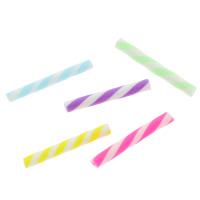 Кабошоны из полимерной глины, полимерный клей, Столбик, Связанный вручную, двухцветный, разноцветный, 20x2.5mm, 100ПК/сумка, продается сумка