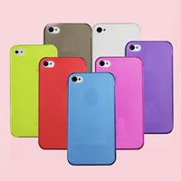 Mobile Phone Cases, PC Plastic, Rectangle, for iPhone5/5s & transparent & stardust, more colors for choice, nickel, lead & cadmium free, Sold By PC
