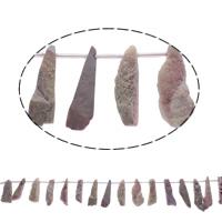 Druzy бисер, Ледниковый кварц-агат, натуральный, druzy стиль, розовый, 13x31x12-16x39x10mm, отверстие:Приблизительно 1mm, 20ПК/Strand, Продан через Приблизительно 15.5 дюймовый Strand