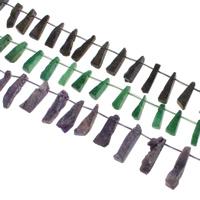 Druzy Koraliki, Agat kwarc lodowy, Naturalne, styl druzy, dostępnych więcej kolorów, 9x37x8-9x42x16mm, otwór:około 1mm, 20komputery/Strand, sprzedawane na około 15.5 cal Strand
