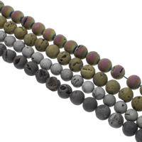 Druzy Koraliki, Kwarc bezbarwny, Koło, Powlekane, naturalny & styl druzy, dostępnych więcej kolorów, 14mm, otwór:około 1mm, 28komputery/Strand, sprzedawane na około 15.5 cal Strand