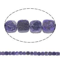 Druzy бисер, Ледниковый кварц-агат, Квадратная форма, натуральный, druzy стиль, фиолетовый, 10x5mm, отверстие:Приблизительно 1mm, 20ПК/Strand, Продан через Приблизительно 8 дюймовый Strand