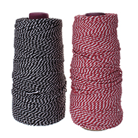 Cotton Cord, with paper spool, more colors for choice, 1mm, Approx 440m/Lot, Sold By Lot