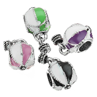 European Zinc Alloy Pendants, antique silver color plated, without troll & enamel, more colors for choice, nickel, lead & cadmium free, 8.5x13.5x8mm, 4x6.5mm, Hole:Approx 4.5mm, 200PCs/Lot, Sold By Lot
