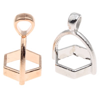 Zinc Alloy Pendant Bail, plated, different size for choice, more colors for choice, lead & cadmium free, Hole:Approx 3x3mm, 100PCs/Bag, Sold By Bag