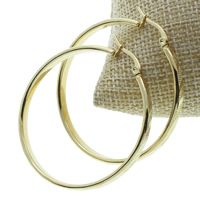 Stainless Steel Hoop Earring, gold color plated, 44x47x4mm, 10Pairs/Bag, Sold By Bag