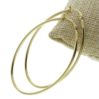 Stainless Steel Hoop Earring, gold color plated, 42x63x2mm, 10Pairs/Bag, Sold By Bag