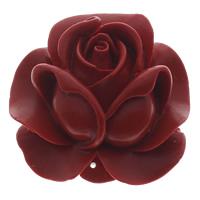 Киноварь коннектор, Форма цветка, 1/1 петля, красный, 50x50x21mm, отверстие:Приблизительно 1mm, 10ПК/сумка, продается сумка