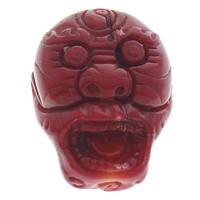 Zawieszki Cinnabar, Cynober, potwór, czerwony, 23x29x14mm, otwór:około 1mm, 10komputery/torba, sprzedane przez torba