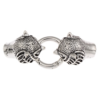 Zinc Alloy Snap Clasp, Owl, antique silver color plated, with end cap, lead & cadmium free, 65x25x13mm, Hole:Approx 8mm, Sold By PC