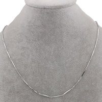 Stainless Steel Chain Necklace, bar chain, original color, 14x1mm, Sold Per Approx 17 Inch Strand