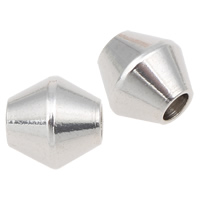 Stainless Steel Beads, Bicone, original color, 8x8mm, Hole:Approx 2.5mm, 100PCs/Bag, Sold By Bag