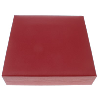 PU Necklace Box, with Cardboard & Velveteen, Square, 185x43x185mm, Sold By PC
