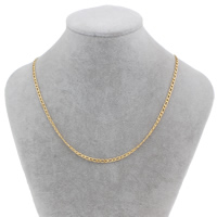 Stainless Steel Chain Necklace gold color plated twist oval chain 6x3x1mm Sold Per Approx 18.5 Inch Strand