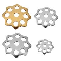 RVS Kraalkapje, Roestvrij staal, Bloem, plated, verschillende grootte voor keus, meer kleuren voor de keuze, 400pC's/Bag, Verkocht door Bag