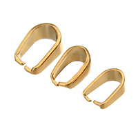 Stainless Steel Snap on Bail, gold color plated, different size for choice, 100PCs/Bag, Sold By Bag