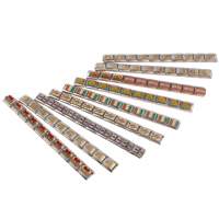 Stainless Steel Italian Charm Link, mixed, 10x9x4mm, 80mm, 10Strands/Bag, Sold By Bag