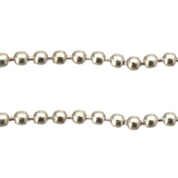 Brass Ball Chain, platinum color plated, nickel, lead & cadmium free, 1.50mm, 100m/Lot, Sold By Lot