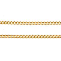 Mosiężny łańcuszek o splocie Pancerka, Mosiądz, Platerowane w kolorze złota, łańcucha krawężnika, bez zawartości niklu, ołowiu i kadmu, 1.90x1.50x0.40mm, 100m/wiele, sprzedane przez wiele