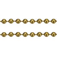 Brass Ball Chain, gold color plated, nickel, lead & cadmium free, 2.30mm, 100m/Lot, Sold By Lot