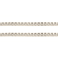 Brass Chain, platinum color plated, box chain, nickel, lead & cadmium free, 1.30mm, 100m/Lot, Sold By Lot