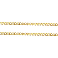 Brass Curb Chain gold color plated nickel lead   cadmium free 1.40x1x0.40mm 100m/Lot