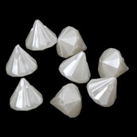 ABS пластик жемчужина подвеска, конус, белый, 12x11mm, отверстие:Приблизительно 1mm, Приблизительно 908ПК/сумка, продается сумка