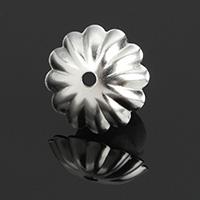 Ruostumaton teräs Helmet lippis, Kukka, alkuperäinen väri, 10x10.50x2.50mm, Reikä:N. 1mm, 1000PC/erä, Myymät erä