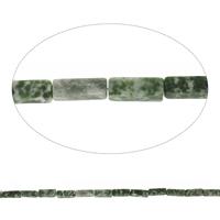 Luonnollinen Moss akaatti helmet, Suorakulmio, 4x13mm, Reikä:N. 1mm, Pituus:N. 15.5 tuuma, 10säikeet/laukku, N. 31PC/Strand, Myymät laukku