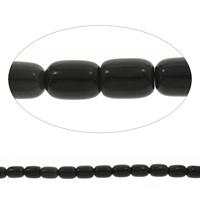 Black Stone Beads, Kolom, 13x17mm, Gat:Ca 1mm, Lengte:Ca 15 inch, 10strengen/Bag, Ca 22pC's/Strand, Verkocht door Bag
