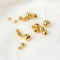 Messing kralen, Ronde, gold plated, verschillende grootte voor keus, nikkel, lood en cadmium vrij, 100pC's/Lot, Verkocht door Lot