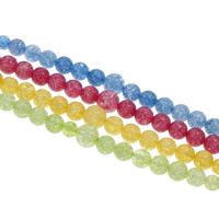 Abalorios de Cuarzo Craquelado, Vidrio, Esférico, sintético, abalorios graduados, más colores para la opción, 6-12mm, agujero:aproximado 1mm, aproximado 54PCs/Sarta, Vendido para aproximado 15.5 Inch Sarta