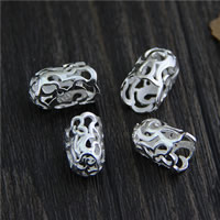 925 Sterling Silver Tassel Cap Bail, different size for choice & hollow, 10PCs/Lot, Sold By Lot