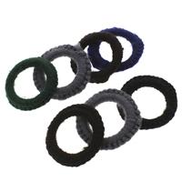 Шерсть Ювелирные кольца, с Железо, Кольцевая форма, Связанный вручную, разноцветный, 50x6mm, отверстие:Приблизительно 31mm, 100ПК/сумка, продается сумка