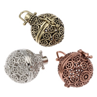 Pregnant Ball Locket Pendant, Brass, Round, plated, hollow, more colors for choice, lead & cadmium free, 22x29x25mm, Hole:Approx 5x5mm, Sold By PC