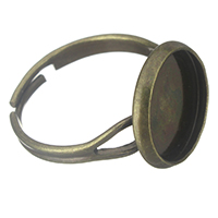Brass Bezel Ring Base, antique bronze color plated, adjustable, nickel, lead & cadmium free, 14mm, Inner Diameter:Approx 12mm, US Ring Size:7, 300PCs/Lot, Sold By Lot