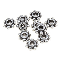 Zinc Alloy Spacer Beads Flower antique silver color plated lead   cadmium free 4x2mm Hole:Approx 1mm 100G/Bag