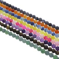 Effloresce Agaat Kraal, Ronde, verschillende grootte voor keus, meer kleuren voor de keuze, Gat:Ca 1.5mm, Lengte:Ca 14.5 inch, Verkocht door Bag