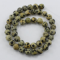 Natural Dalmatian Beads, Round, different size for choice & frosted, Hole:Approx 1-2mm, Length:Approx 14 Inch, Sold By Lot