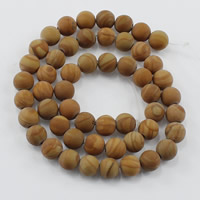 Natural Grain Stone Beads, Round, different size for choice & frosted, Hole:Approx 1-2mm, Length:Approx 15 Inch, Sold By Lot