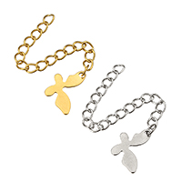 Stainless Steel Extender Chain, Butterfly, plated, more colors for choice, 8.5x14x0.5mm, 3x4mm, Length:Approx 2.5 Inch, 200Strands/Lot, Sold By Lot
