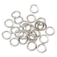 Ijzer Open jumpring, Donut, platinum plated, lood en cadmium vrij, 4x1mm, Ca 2000pC's/Bag, Verkocht door Bag
