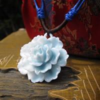 Фарфор Кулоны, фарфор, Форма цветка, покрытый глазурью, 15-30mm, отверстие:Приблизительно 1-3mm, продается PC