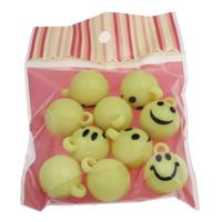 акриловые кулоны, Акрил, с OPP, Круглая, ровный цвет, Много цветов для выбора, 23x29mm, отверстие:Приблизительно 3mm, 10/сумка, продается сумка