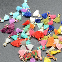 Decorative Tassel, Wool, with aluminium wire, gold color plated, more colors for choice, 10mm, 100PCs/Bag, Sold By Bag
