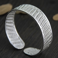 925 Sterling Silver Cuff Bangle, 17.5mm, Inner Diameter:Approx 50mm, Length:Approx 6 Inch, Sold By PC