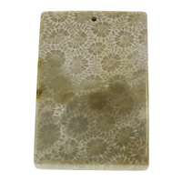 Chrysanthemum Stone Pendant, Rectangle, natural, 28x35x7mm-40x60x8mm, Hole:Approx 1.5mm, Sold By PC