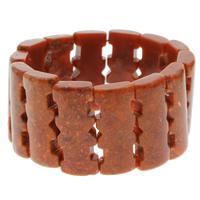 Натуральный коралл браслет, натуральный, оранжевый, 15x36x7mm, Продан через Приблизительно 7.5 дюймовый Strand