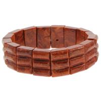 Натуральный коралл браслет, Прямоугольная форма, натуральный, оранжевый, 13x19x7mm, Продан через Приблизительно 7 дюймовый Strand