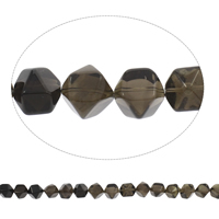 Natural Smoky Quartz Beads, Grade AAA, 12x15mm-17x17mm, Hole:Approx 2mm, Approx 40PCs/Strand, Sold Per Approx 15 Inch Strand